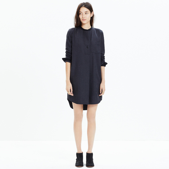 ecbec1b4d4 Madewell Dresses   Skirts - Madewell Latitude Shirt Dress XXS charcoal Gray